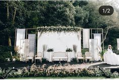 Garden Wedding Ceremony Ideas Simple 34 Ideas For 2020 Wedding Backdrop Design, Rustic Wedding Backdrops, Rustic Garden Wedding, Bohemian Wedding Decorations, Wedding Ceremony Decorations, Wedding Receptions, Wedding Favors, Wedding Invitations, Wedding Ideas