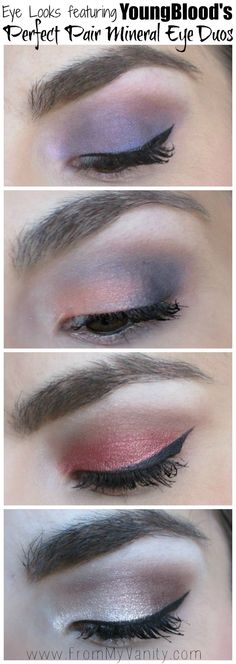 Eye looks featuring YoungBlood's Perfect Pair Mineral Eye Duos // @Ladykaty92