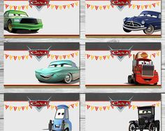 Disney Cars Food Tents Chalkboard Set 2 - Cars Food Labels - Disney Cars Printables - Cars Party Favor - Cars Happy Birthday - Cars Birthday
