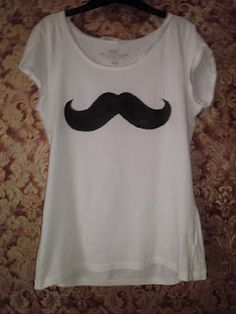 (DIY NOT DIE): Black Mustache -DIY T-shirt