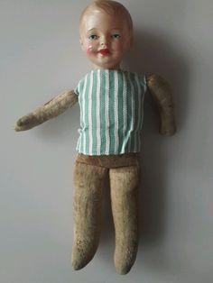 Schildkröt Puppe, Junge, 100/9, 25cm hoch, Celluloidkopf mit Stoffkörper   eBay