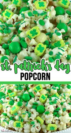 Patrick's Day Popcorn is a yummy sweet and salty popcorn treat that is so easy to make. Surprise your family with this fun St. St Patrick's Day Appetizers, Chicken Appetizers, Chicken Recipes, Flavored Popcorn, Popcorn Recipes, Food Crafts, Bake Sale, Sweet And Salty, Holiday Recipes