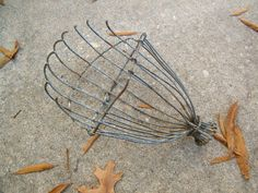 Primitive Industrial Wire Fruit Picker by assemblage333 on Etsy, $36.00