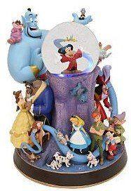 Disney Group Pedestal Snowglobe