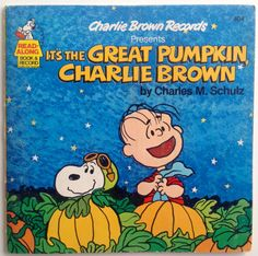 It's The Great Pumpkin, Charlie Brown 7' Vinyl Record / Book, Charlie Brown Records - 404, Children's Story, 1978,  Original Pressing
