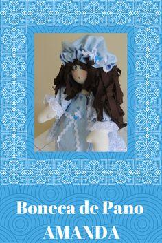 Boneca de pano ,confeccionadas em tecido de algodão e feltro ,cabelo em tecido ,sapatinhos com técnica dobra feita.  Além do vestidinho a boneca usa avental e touca decoradas com sianinha e mini botões .   A boneca fica em pé sozinha,e mede aproximadamente 40cm