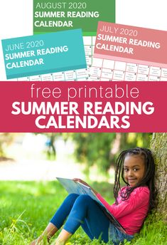 2020 Summer Reading Calendars - FREE printables - No Time For Flash Cards