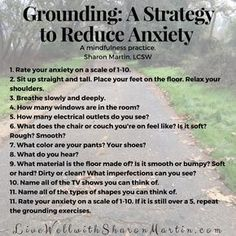Grounding: A Strategy to Reduce Anxiety