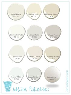 Check out these winter white color palettes by Minneapolis based Interior Design Firm LiLu Interiors. Who knew there were so many whites? Best Gray Paint Color, Modern Paint Colors, Best White Paint, White Paint Colors, White Paints, Interior Design Presentation, Interior Design Advice, Best Champagne, Glow Palette