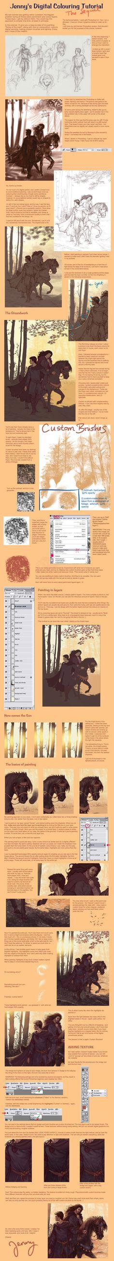 Digital Colouring Tutorial by =Gold-Seven on deviantART