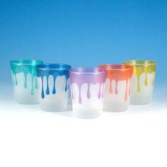 Hey, I found this really awesome Etsy listing at https://www.etsy.com/listing/43571442/shot-glasses-dripping-set-of-5-custom