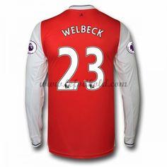 Billige Fodboldtrøjer Arsenal 2016-17 Welbeck 23 Langærmet Hjemmebanetrøje