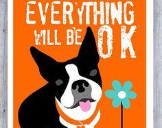 Arte de Boston Terrier Boston Terrier imprimir por GoingPlaces2