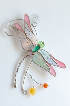 So tender dragonfly suncatcher is a sign of change, transformation, adaptability, and self-realization - will be a great gift for the loved people. Stained Glass Studio, Custom Stained Glass, Stained Glass Panels, Stained Glass Projects, Stained Glass Patterns, Stained Glass Art, Dragonfly Stained Glass, Dragonfly Wall Art, Stained Glass Suncatchers