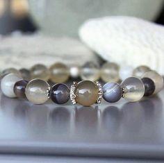 Agate, citrine and sterling silver bracelet 👌🏻