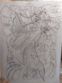 Koi Dragon Tattoo, Carp Tattoo, Koi Fish Tattoo, Koy Fish Drawing, Fish Drawings, Japanese Snake Tattoo, Dragon Sketch, Carpe, Asian Tattoos