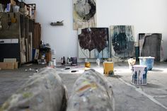 home in the studio: PAINTING & DOCUMENTING AT THE STUDIO:  Here are...