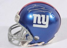 Brandon Jacobs Autographed Mini Helmet - JSA - Sports Memorabilia #BrandonJacobs #NewYorkGiants #SportsMemorabilia