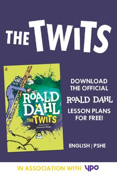 Explore the official Roald Dahl lesson plans. Perfect for teaching The Twits Roald Dahl The Twits, Roald Dahl Stories, Roald Dahl Day, Roald Dahl Activities, Writing Activities, Year 4 Classroom, Classroom Ideas, Museum Education, Kids Education