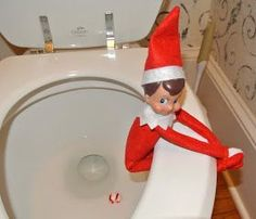 How embarassing for the little elf! Elf on the Shelf