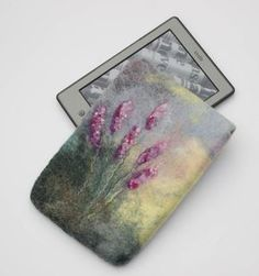 Kindle Paperwhite Cover felted Kindle Voyage Case floral yellow e-reader sleeve blue gadget pouch lavender pink exclusive gift for her