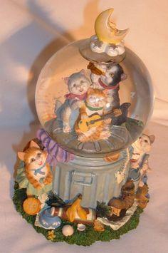 Vintage San Francisco Music Box Company Snow Globe Stray Cats Theme | eBay