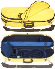 Bobelock 1047FV Yellow Fiberglass 4/4 Violin Case with Blue Velvet Interior and Protective Bag by Bobelock. $251.00. This is a Bobelock 1047FV Yellow Fiberglass Halfmoon 4/4 Violin Case with a Blue Velvet Interior including a protective Yellow Case Bag, and what a case it is! The Bobelock 1047 halfmoon series violin cases have long been a best seller of ours. This great violin case is now available with a practically indestructible and protective fiberglass sh...