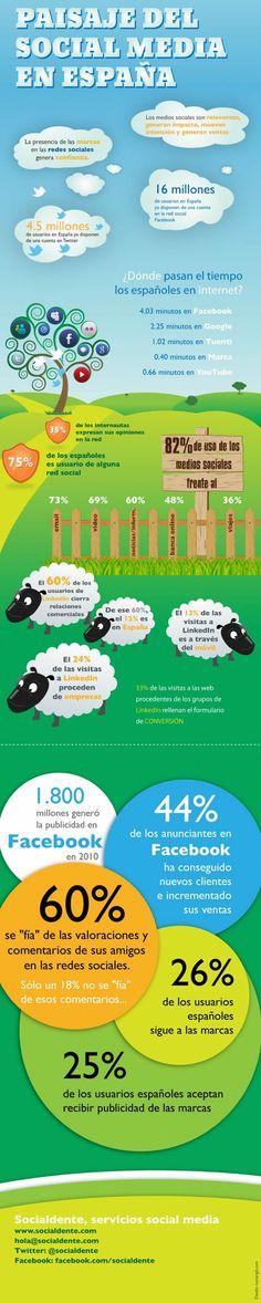 Panorama del Social Media en España, #infografia