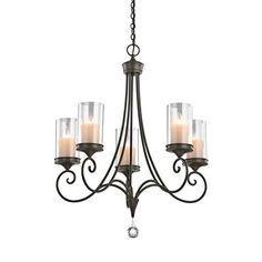 Kichler Lighting 42861SWZ 5 Light Laurel Chandelier, Shadow Bronze™ - ATG Stores