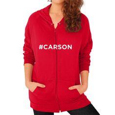 #Carson for President Women's Zip Hoodie