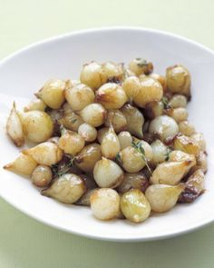 Martha Stewart's Glazed Pearl Onions - The longer the pearl onions cook, the sweeter and more caramelized they will become. Toss with a little balsamic vinegar, if desired.