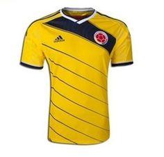 Team Jerseys >Columbia >2014 FIFA World Cup Columbia National Team ...