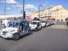 mini mokes in st tropez port