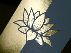 Dribbble - Gold Foil Lotus Business Card by Andrew Sullivan