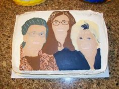 Family photo cake @https://m.facebook.com/Imacakehead