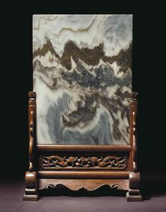 A dali marble and huanghuali table screen, Xiaozuopingfeng