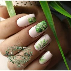 It's important to consider your tropical nail art designs when summer is approaching. Tropical nail art design has a wide range, you can choose bright colors. For example, yellow, purple, orange… Green Nails, Pink Nails, Hair And Nails, My Nails, Tropical Nail Art, Nagellack Trends, Manicure E Pedicure, Super Nails, Nagel Gel