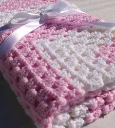 how to create new baby crochet afghans | Baby Girl Blanket Pink Crochet Afghan by CandacesCloset on Etsy
