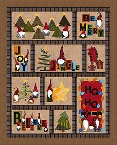 2018 Gnome for the Holidays Quilt BOM from Fat Cat Patterns