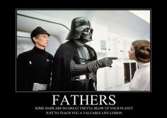 Im definitely NOT a Star Wars nerd, but this is pretty funny. lol I'm definitely not a Star Wars nerd, but that's pretty funny … lol Star Wars Meme, Star Trek, Fathers Day Cards, Happy Fathers Day, Funny Memes, Hilarious, Jokes, Movie Memes, Funny Quotes