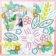 New project for 😍🌸 I used a cutfile from Pink Paislee and a lot of stuff from different collections 😃… Scrapbook Cards, Scrapbooking Ideas, Scrapbook Layouts, Oh My Heart, Cross Stitching, Love, Creative, Projects, Pink
