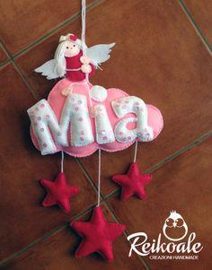 #fattoamano #handmade #reikoale #creazioni #pannolenci #feltro  #nuvola #angelo