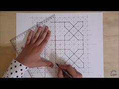 How to draw an Islamic geometric pattern #7   زخارف اسلامية هندسية