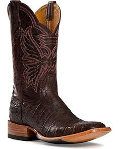 Cinch Men's Classic Caiman Mad Dog Cowboy Boot Square Toe Chocolate US - http://authenticboots.com/cinch-mens-classic-caiman-mad-dog-cowboy-boot-square-toe-chocolate-us/