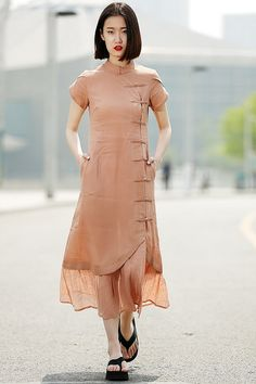 Maxi Linen Dress by YL1dress on Etsy