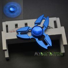 TriAngle Fidget Hand Spinner Torqbar Finger Toys EDC Focus ADHD Autism-Blue #Unbranded