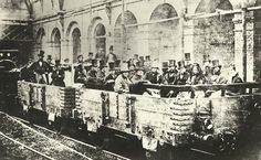 The First Ever Underground Train Journey, Edgware Road Station, London, 1862