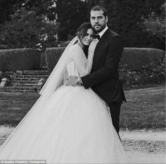 Loved up: Buddy Franklin posted another wedding photo with his new wife Jesinta Campbell o...