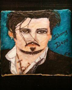 Galleta pintada a mano Johnny Depp