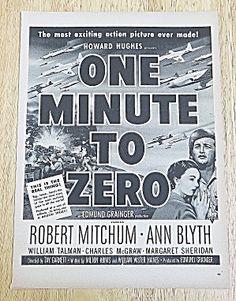1952 One Minute To Zero With Mitchum & Blyth